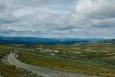 Národní park Rondane, v pozadí Jotunheimen, Norsko