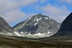 Vrchol Storsmeden (2016 m), národní park Rondane, Norsko