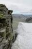 Národní park Rondane, sedlo mezi vrcholy Vinjeronden a Storronden, Norsko