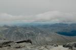Výhled z vrcholu Vinjeronden, národní park Rondane, Norsko