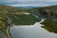 Nad jezerem Rondvatnet, národní park Rondane, Norsko