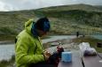 U jezera Rondvatnet, národní park Rondane, Norsko