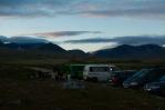 Při parkovišti Spranghaugen v národním parku Rondane, Norsko