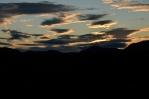 Západ slunce na jihozápadě národního parku Rondane, Norsko