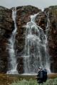 Vodopád Storulfossen na říčce Store Ula, národní park Rondane, Norsko