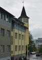 Dům s věžičkou cestou k náměstí Ingólfstorg.