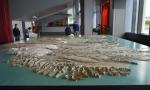 Uvnitř radnice se nachází obrovský 3D model Islandu. Na fotce pohled od východu, v popředí tedy východní fjordy.