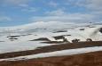 Sopka a ledovec Eyjafjallajökull.