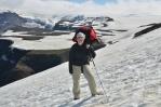 Paty dopadají do sněhu akorát tak měkkého, takže sestupujeme rychle a pohodlně.