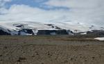 Na planině máme výhled na ledovec Eyjafjallajökull