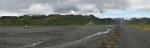 Panorama údolí Krossá a Thórsmörku