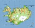 Geografická mapa Islandu (zdroj: Wikipedia)