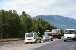Oprava silnice v Norsku