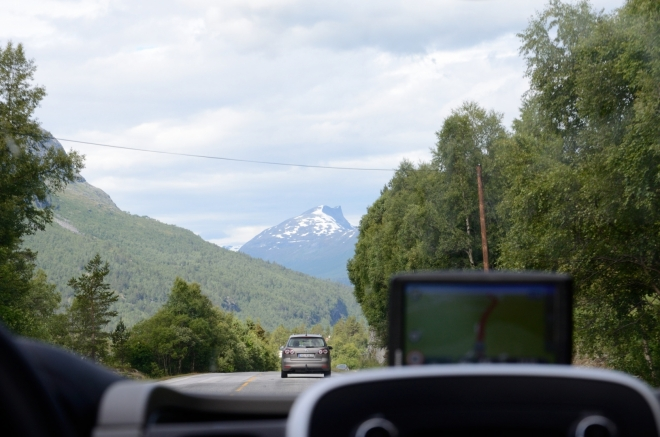 Hory jsou obecně stále vyšší, čím dále jedeme.