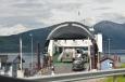 Trajekt směrem z Isfjorden do města Molde, Norsko