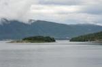 Výhled na Langfjorden, Norsko