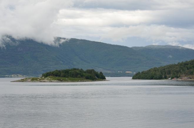 Výhled na Langfjorden