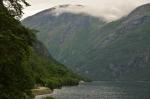 Cesta okolo jezera Eikesdalsvatnet, Norsko