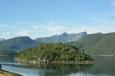 Norsko, fjord nedaleko Åndalsnes