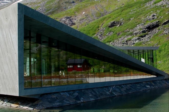 Moderní versus tradiční norská architektura