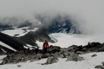 Sestup z Galdhøpiggenu, Norsko