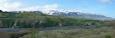 Výhled na přebroděnou řeku a Eyjafjallajökull.
