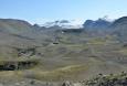 Pohled k Mýrdalsjökull údolím řeky Fremri-Emstruá.