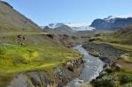 Řeka Fremri-Emstruá a Mýrdalsjökull, z něhož teče