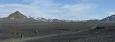 Panorama planiny. K těm bílým horám v dáli jdeme.