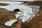 Ledový příkrov a pod ním teplý pramen