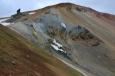 Brennisteinsalda, hora s prstem a taky nejbarevnější hora na Islandu.