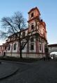 Kostel Zvěstování Panny Marie je mohutná barokní stavba, dílo Octavia Broggia z let 1701-31 Stavba byla zahájena jeho otcem Giuliem na místě pěti měšťanských domů pro jezuitskou kolej. Kostel byl vysvěcen 16.11.1731. Původní starý litoměřický špitál patřící od 13. století do konce husitských válek křížovníkům s červenou hvězdou (řád křížovníků s červenou hvězdou byl založen z podnětu Anežky Přemyslovny, sestry krále Václava I.) a poté městu, byl spolu s poblíž stojícím kostelíkem Panny Marie předán 3.dubna 1629 řádu jezuitů. Po zrušení řádu roku 1773, sloužil kostel v letech 1793-1810 jako skladiště městského pivovaru. V roce 1810 byl opětovně vysvěcen a od roku 1811 využíván pro potřeby bohosloveckého semináře. V roce 1818 kostel spojila s protější bývalou jezuitskou kolejí podklenutá krytá chodba. V interiéru chrámu jsou monumentální fresky připisované Janu Hiebelovi. Hlavní oltář z umělého mramoru, dokončený roku 1772 J.Kramolínem, je patrně dle návrhu Octavia Broggia, stejně tak jako šest bočních oltářů. Pod kostelem se nachází jezuitská hrobka. Dnes bývá kostel využíván k příležitostným koncertům, jinak je veřejnosti nepřístupný (www.mapy.cz).