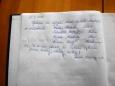 A nezbytný zápis do návštěvní knihy v restauraci Milešovka.