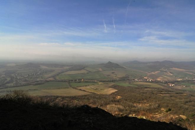 Výhled od zříceniny hradu.