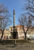 V roce 1680 postihl město, stejně jako celou zemi velký mor. Na památku a z vděčnosti za překonání této morové epidemie, při níž zemřelo asi 400 osob, bylo v letech 1681 - 1685 dle návrhu Giulia Broggia sochařem Abrahamem Kitzingerem z Děčína a litoměřickými kameníky Andreasem Koldererem a Ambrožem (Ambrosio) Waldem postaveno barokní sousoší. Mariánský sloup byl vysvěcen již 13.4. 1681. Na jeho vrcholu je umístěna Immaculata, což je ikonografický typ P.Marie stojící na půlměsíci a zeměkouli s ovinutým hadem jako symbolem dědičného hříchu. Na postranních soklech jsou umístěny sochy patronů proti moru: sv.Rocha, Šebestiána, Bartoloměje a Františka Xaverského. Ve výklenku pak leží socha sv.Rosalie. Roku 1992 byly původní plastiky nahrazeny kopiemi, které jsou dílem akademických sochařů - restaurátorů Čestmíra Mudruňky a Ivo Hamáčka. (www.mapy.cz)