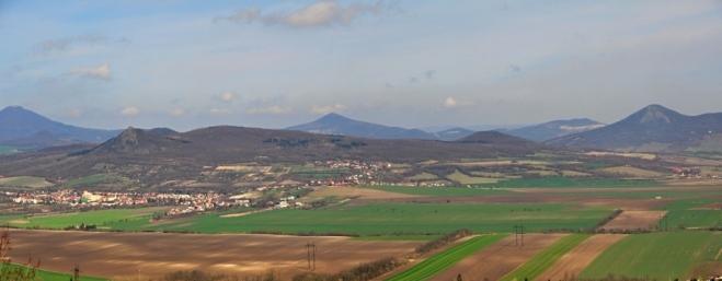 Panorama Českého středohoří.