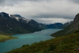 Jezero Gjende, Jotunheimen, Norsko