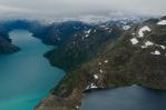 Jezera Gjende a Bessvatnet, Jotunheimen, Norsko