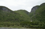 Okolí vesničky Mo blízko ústí Lærdalského tunelu, Norsko