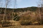 Chlum přes údolí Chlumanskèho potoka.