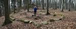 Velký kruh. Blanský les je známý mnohými nálezy svědčícími o osídlení jeho území. U Třísova se nachází velké hradiště z doby bronzové (cca 2200–750 př. n. l.). Po polovině 2. století př. n. l. zde existovalo keltské osídlení v podobě výšinného osídlení nad břehem Vltavy bez jakéhokoli opevnění.Podobně mohli být osídleny i další vrcholy Blanského lesa. Albertov je jedním z nich.