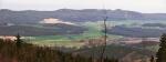 Panorama nižšího hřebene Blanského lesa (Kluk 740 m n. m.).