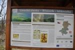Info tabule o Linecké stezce, která tudy vedla na trhy do Netolic.