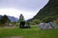 V kempu u Sørfjordenu, Norsko