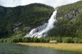 Vodopád poblíž města Odda, Norsko