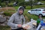 V kempu u města Odda, Norsko