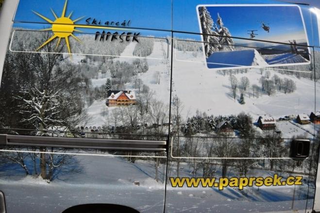 Zimní idylka, o kterou jsme přišli. Původně jsme na Paprsek totiž měli jet v únoru. Termín jsme odložili pro nedostatek sněhu a choroby, co nás postihly.
