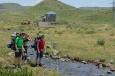Výstup na Geghamy z vesnice Geghard, Arménie