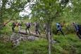 Začátek treku na Trolltungu, Norsko