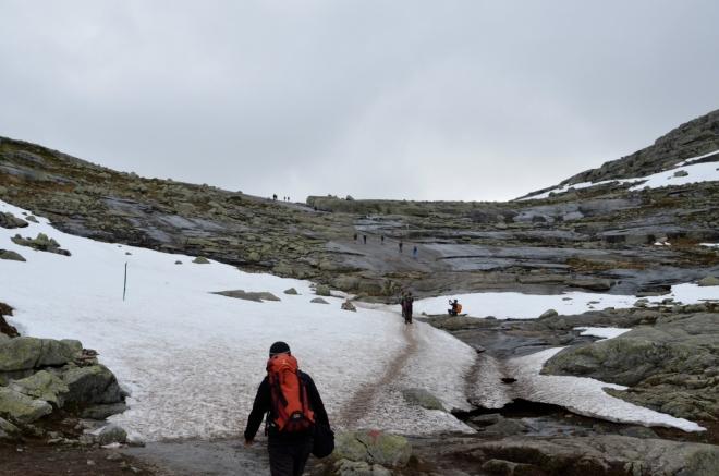 První sněhové pole